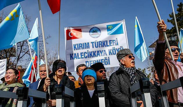 Kırım Tatarlarından Rusya'ya protesto