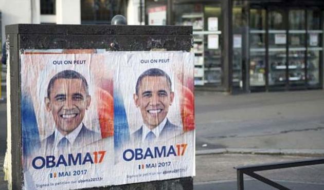 Fransız aktivistler Obama'yı istiyor