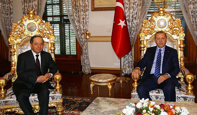 Cumhurbaşkanı Erdoğan- Barzani ile görüştü