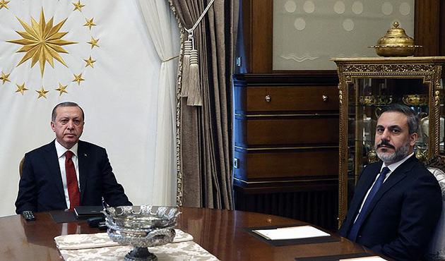 Cumhurbaşkanı Erdoğan Fidan ile görüştü