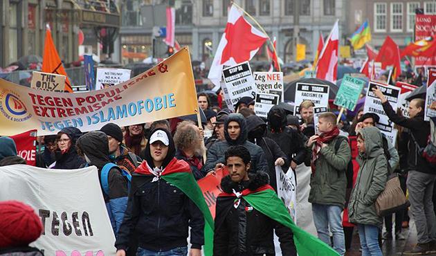 Londra ve Amsterdam'da ırkçılık karşıtı gösteri | FOTO