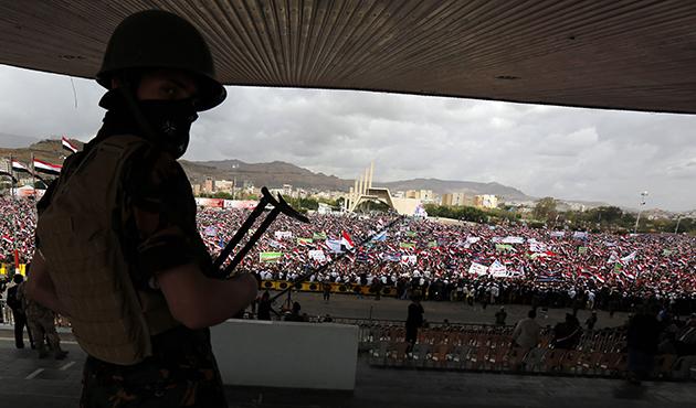 Yemen'de 'Kararlılık Fırtınası' operasyonu protestosu