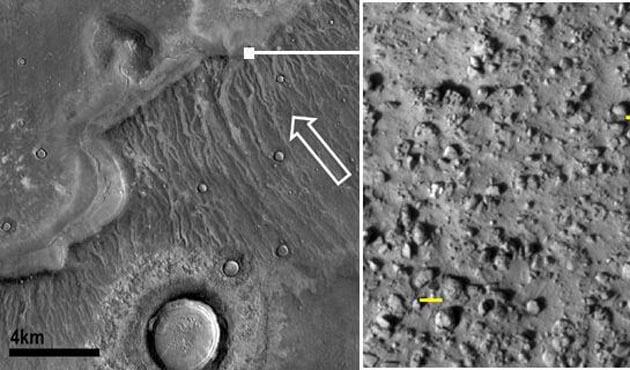 Mars'ta tsunami sonucu oluşan krater bulundu