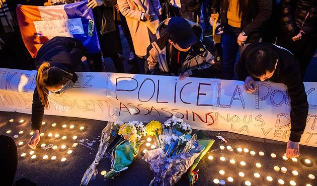 Paris'te polis şiddetine öfke üçüncü gününde