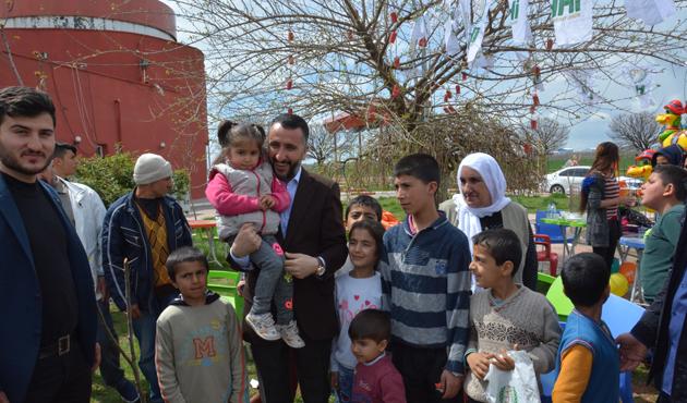 Türk ve Suriyeli yetimler birlikte eğlendi