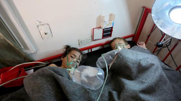 Esed rejiminin klor gazlı hava saldırısında 100'den fazla ölü | FOTO