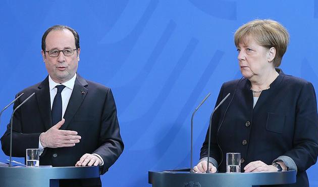 Merkel ve Hollande'a göre müdahelenin tek sorumlusu Esed