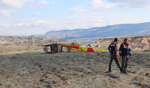 Kapadokya'da balon kazası, 1 ölü