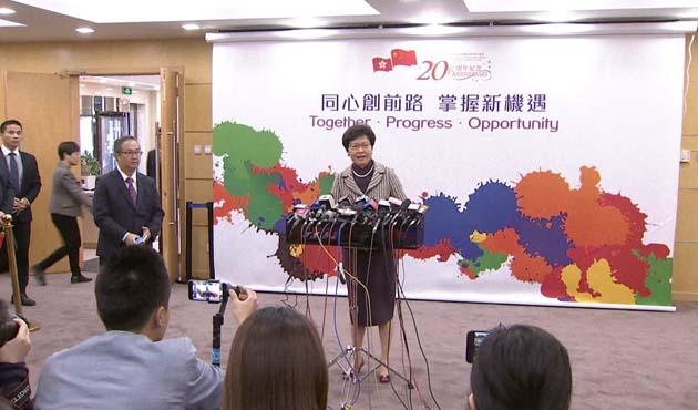 Çin'den Hong Kong'un yeni Baş Yöneticisine tam destek
