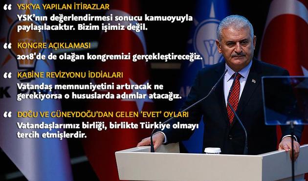 Yıldırım: AK Parti olarak mesajı aldık