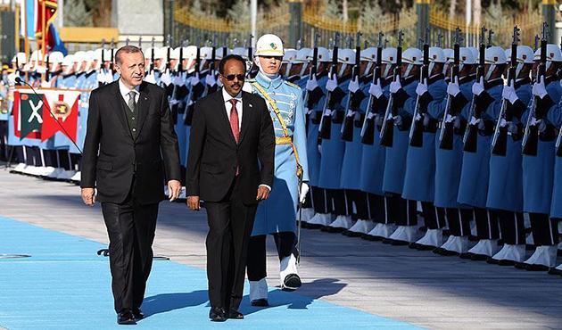 Somali Cumhurbaşkanı Fermacu Ankara'da