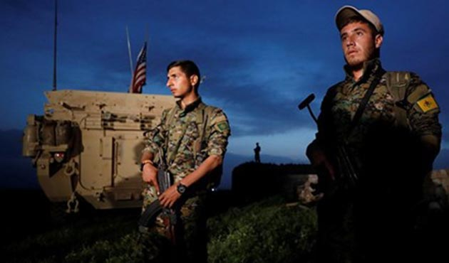 ABD askeri YPG'liler ile nöbette!
