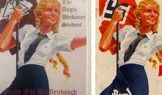 Güney Afrika üniversitesinde Nazi posterleri