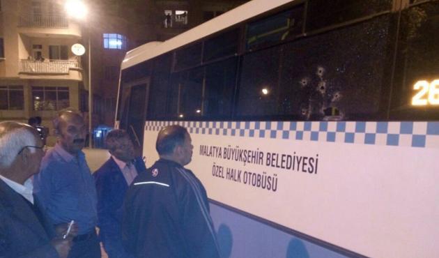 Malatya'da özel halk otobüsüne ateş açıldı