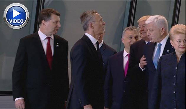 Trump'tan NATO Zirvesi'ne damga vuran skandal hareket | VİDEO
