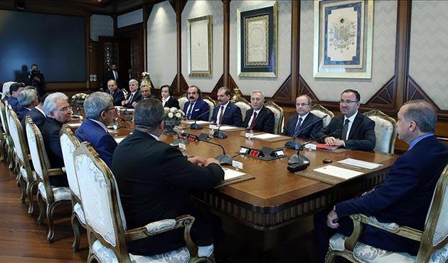 Erdoğan görevleri sona eren HSYK üyelerini kabul etti