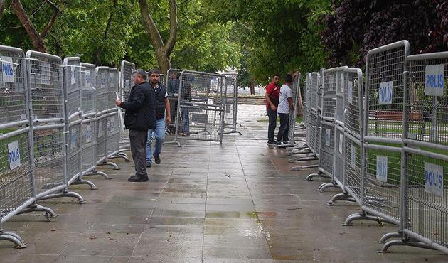 Taksim'de 'Gezi Parkı' önlemleri