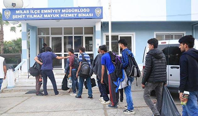 Muğla'da 98 kaçak göçmen ve 4 organizatör yakalandı
