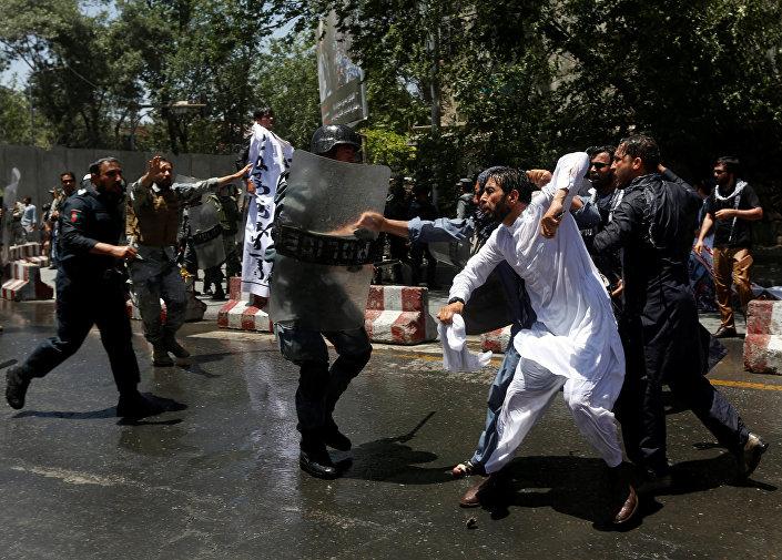 Afganistan'da hükümet karşıtı gösteri