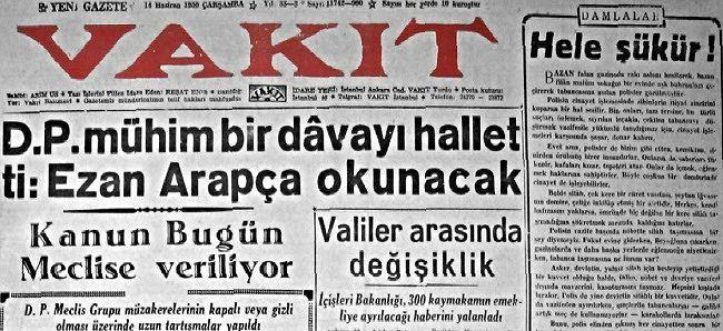 Türkçe ezan zulmüne son verildi