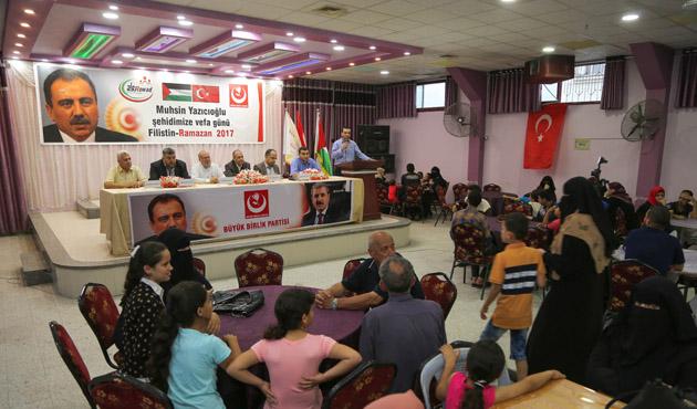 BBP'den Gazze'de 'Muhsin Yazıcıoğlu'na vefa' iftarı