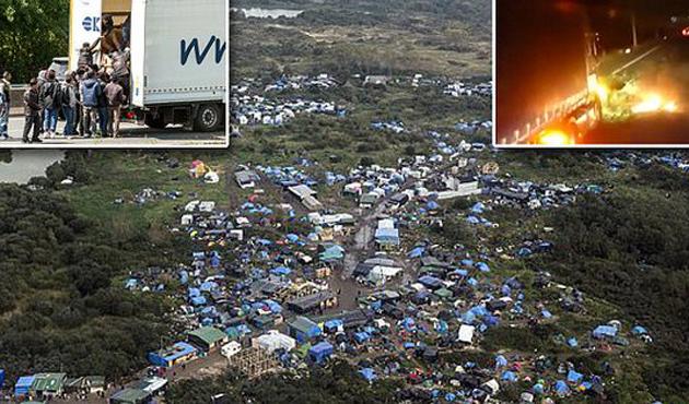 Calais'deki sığınmacı sayısı 600'e ulaştı
