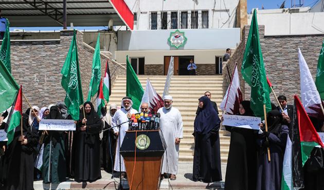 Gazze'de abluka karşıtı gösteriler