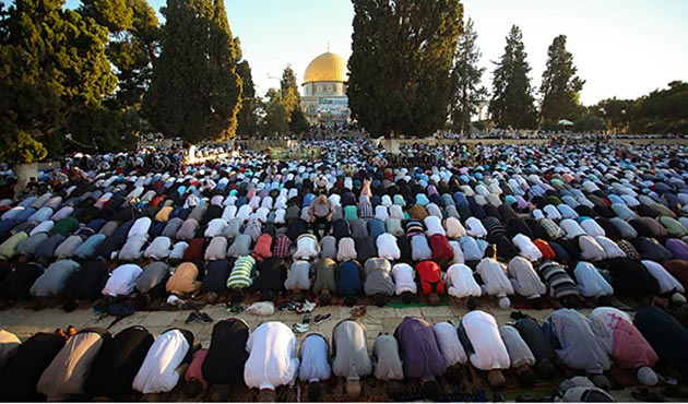 Mescid-i Aksa'da bayram namazına 10 binler katıldı | FOTO