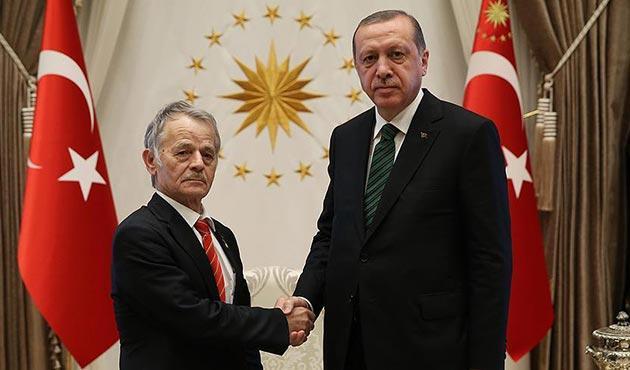 Cumhurbaşkanı Erdoğan, Kırımoğlu'nu Beştepe'de kabul etti