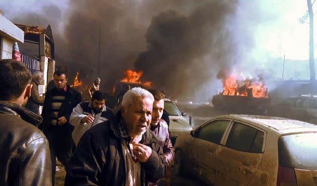 Suriye'de otobüs durağında patlama