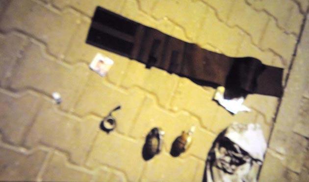 Gaziantep'te polisten kaçan zanlılardan el bombaları çıktı