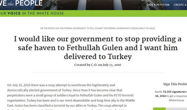 ABD'deki Türklerden Gülen'in iadesi için imza kampanyası