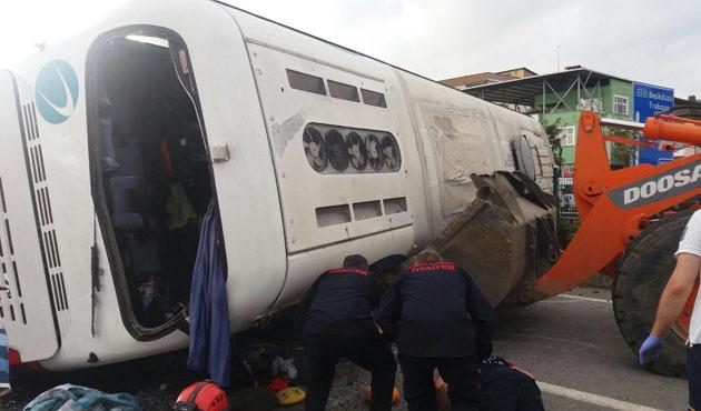 Giresun'da tur otobüsü devrildi: 38 yaralı