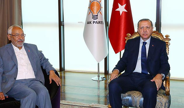 Cumhurbaşkanı Erdoğan, Gannuşi'yi kabul etti