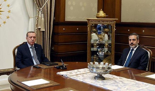Cumhurbaşkanı Erdoğan MİT Müsteşarı Fidan'ı kabul etti