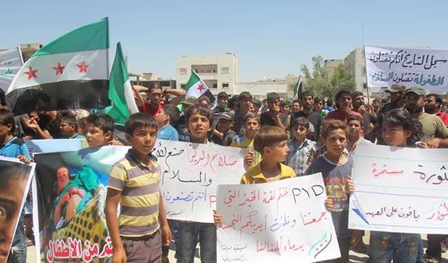 El Bab'ta PKK/PYD karşıtı gösteri