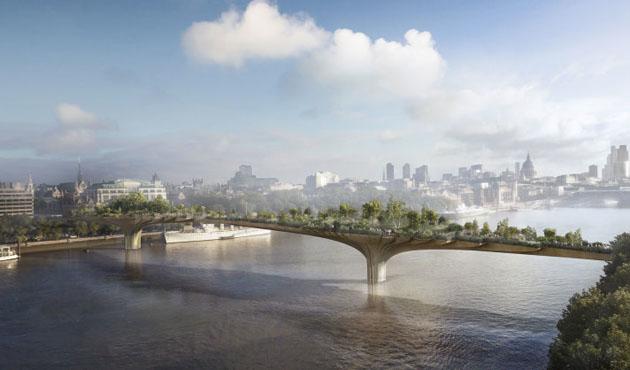 Londra'nın bahçe köprüsü iptal oldu