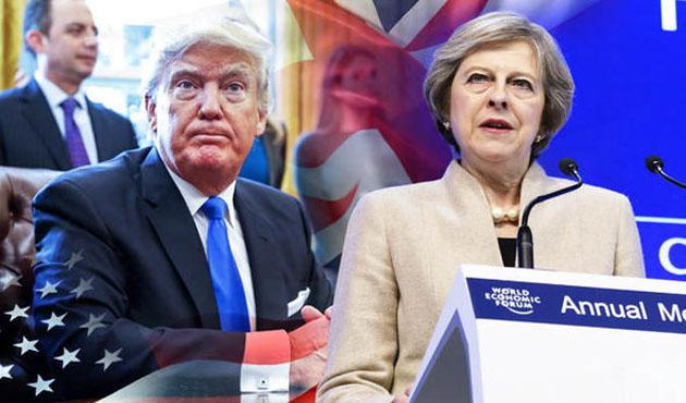 Trump ile May Davos'ta görüştü