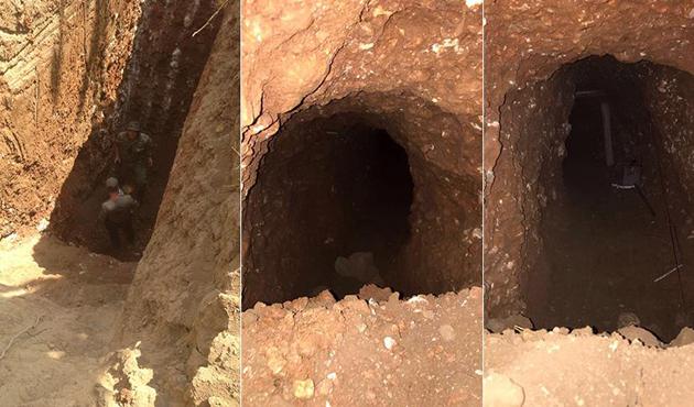 Nusaybin'de PKK'lılar tarafından kazılan tünel bulundu