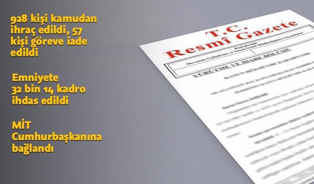 İki yeni KHK Resmi Gazete'de yayımlandı