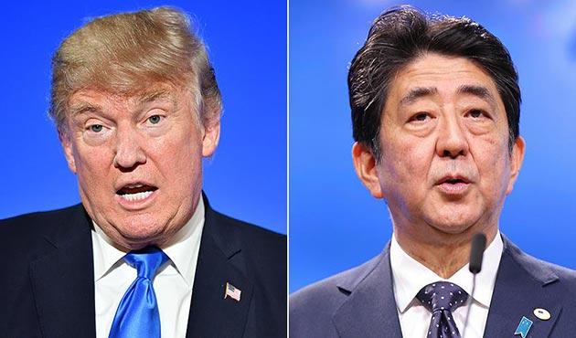 Trump ve Abe'den Kuzey Kore'ye karşı birlik mesajı