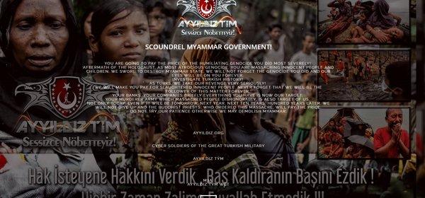 Türk Hackerlardan Arakanlı Müslümanlara destek