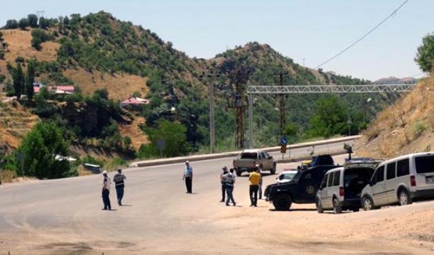 Tunceli karayolunda bomba alarmı