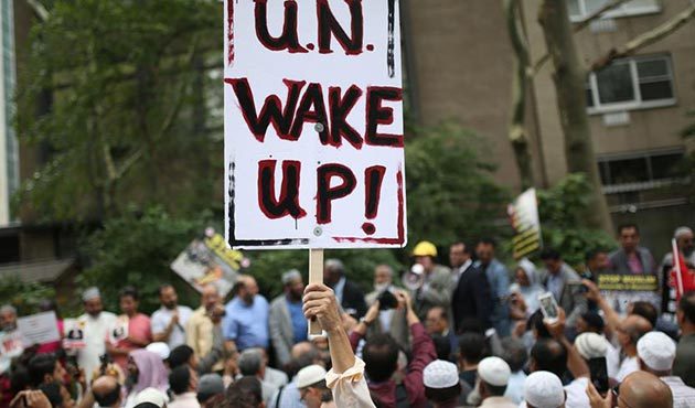 New York'ta 'Arakan' protestosu