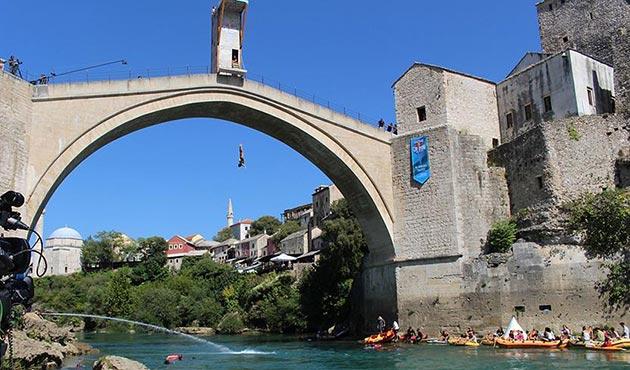 Mostar'da uçurum dalışı