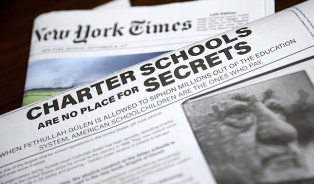 New York Times'ta 'Aldatma İmparatorluğu: Gülen' ilanı
