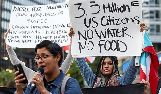 Chicago'da Porto Riko protestosu