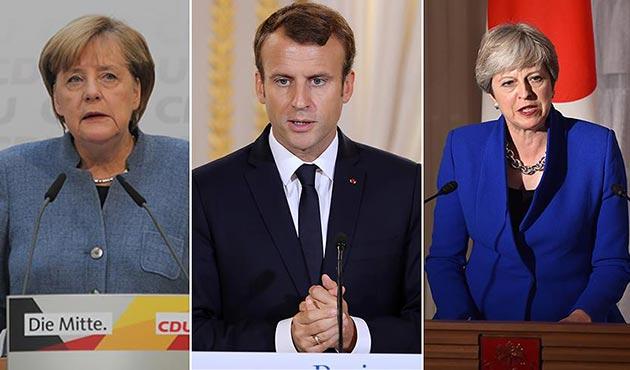 İran'la nükleer anlaşmaya Avrupalı üç liderden ortak destek