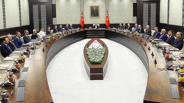 Milli Güvenlik Kurulu Beştepe'de toplandı