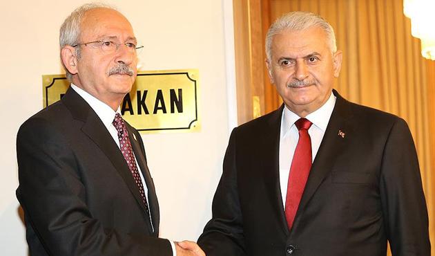 Meclis'teki Yıldırım-Kılıçdaroğlu görüşmesi